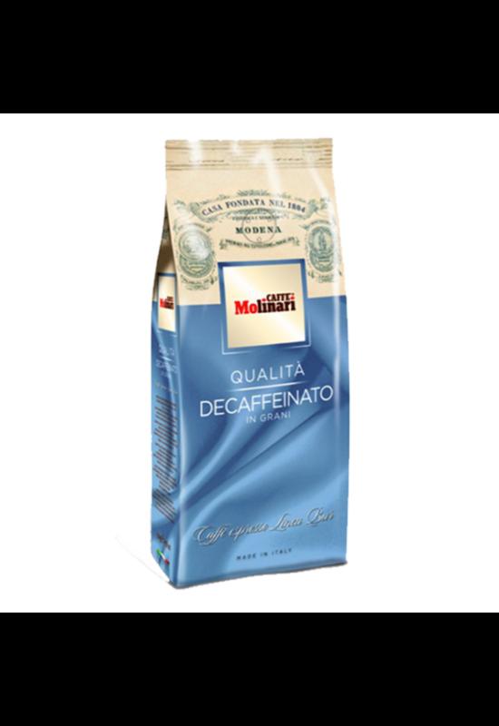 Molinari CINQUE STELLE koffeinmentes szemes kávé - 500 gr