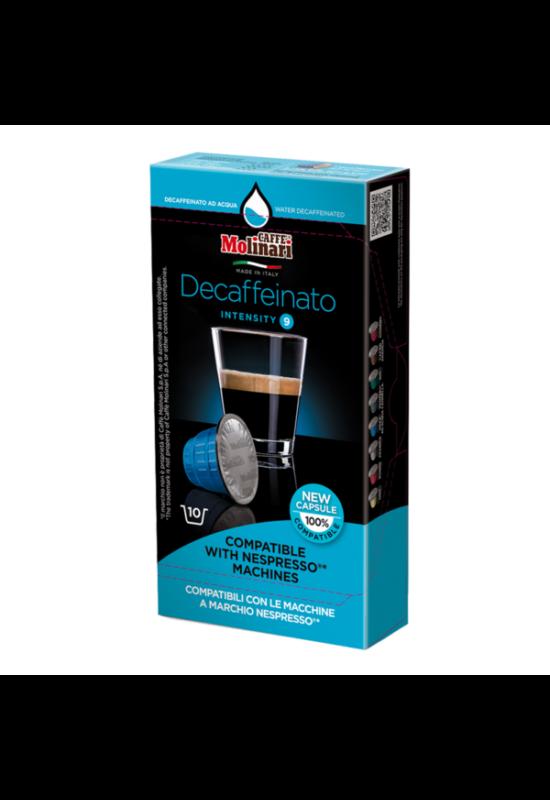 Molinari Koffeinmentes (NESPRESSO) kávékapszula 10 db/doboz