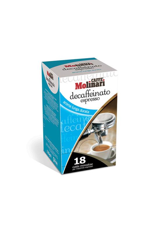 Molinari Essenza koffeinmentes kávépod - 18 db/doboz