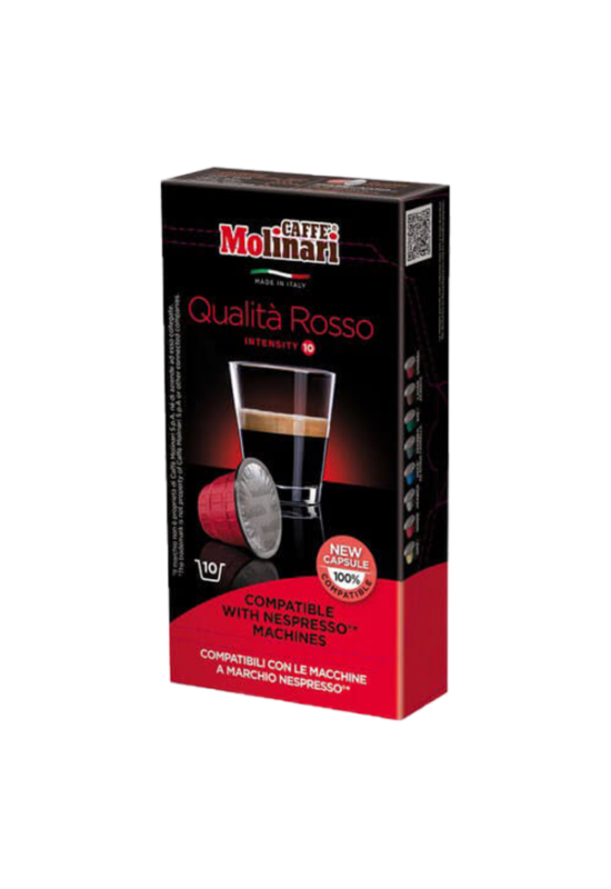 Molinari QUALITA Rosso (NESPRESSO) kávékapszula 10 db/doboz