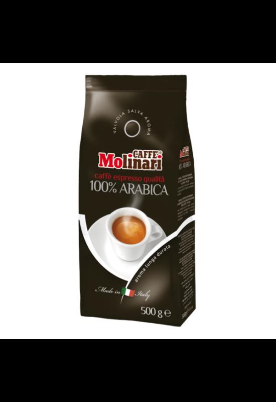 Molinari 100% Arabica szemes kávé - 500 gr