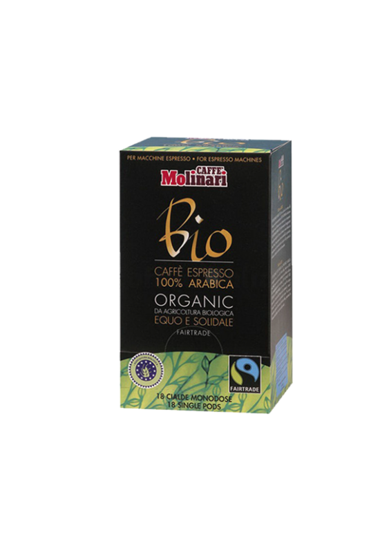 Molinari BIO ORGANIC & FAIRTRADE kávépod - 18 db/doboz