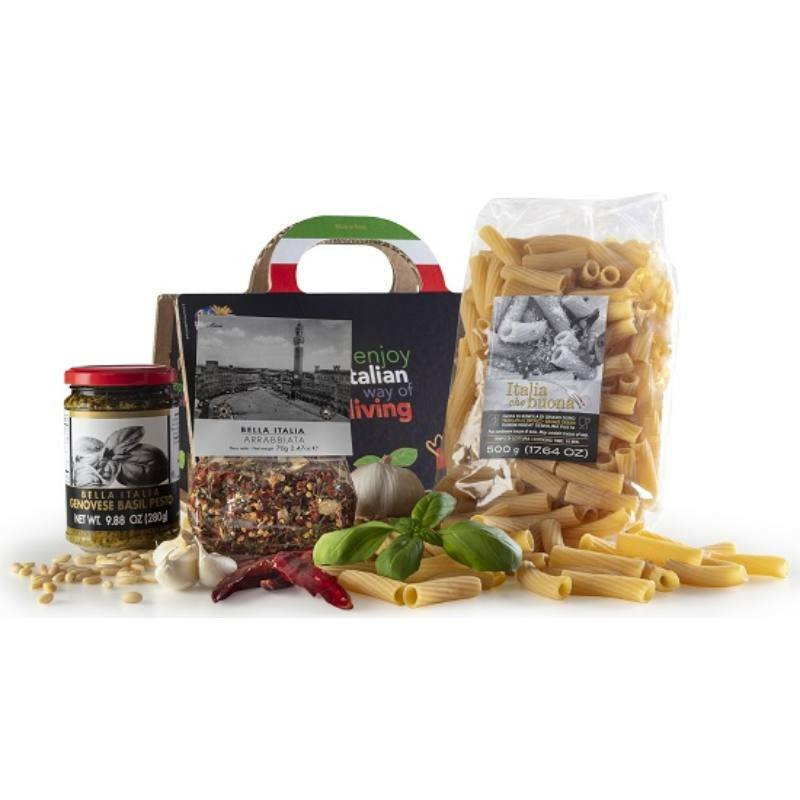 Shopper Nero olasz gourmet ajándékcsomag
