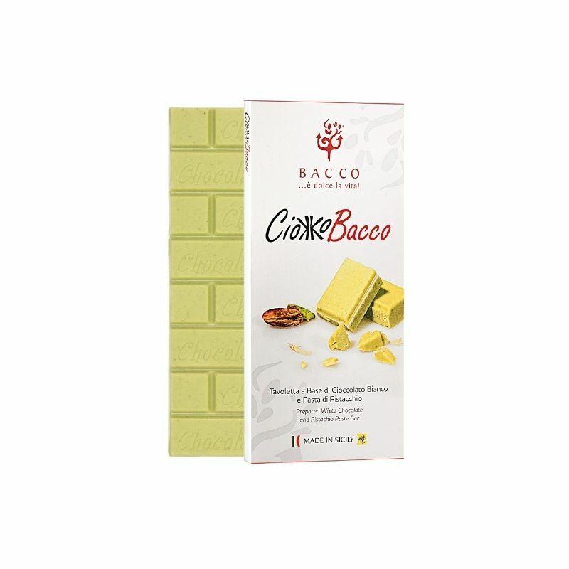 Bacco Brontei fehércsokis pisztáciás csokoládé 100g
