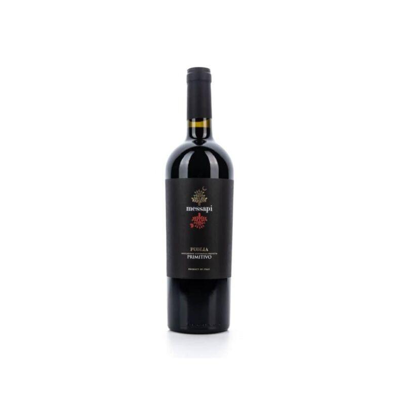 Saulo Rosso - I Messapi Primitivo Puglia vörösbor 0,75 l