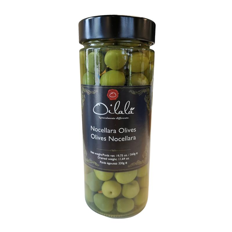 Oilalá olasz Nocellara olívabogyó egész 560 g
